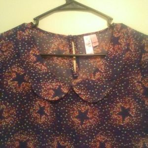NWOT! FANG, Star Dolled Up Blouse, Size: XL